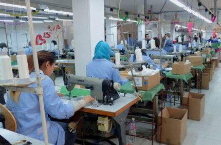 Textile production line